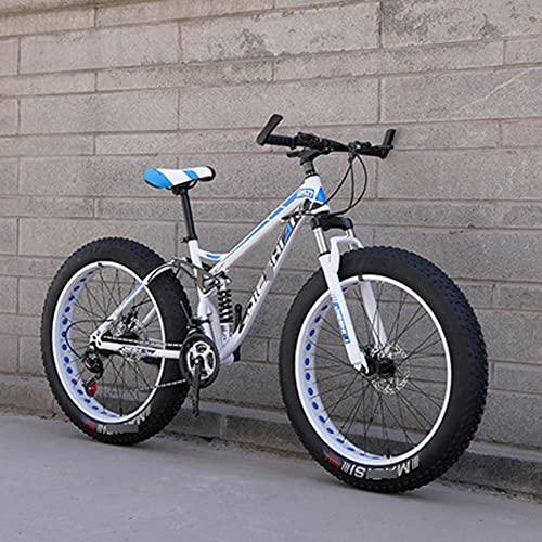 MLHH Bicicletas de montaña Ciclismo Cross Country Off-Road Bicicleta de Velocidad Variable MTB Road Fat Tire Bicicletas de Trail para Hombres y Mujeres 24 velocidades 24 Pulgadas Ahuecar