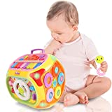 BAOLI 7 in 1 Baby Musical Activity Cube Toy for Kids Toddlers Boys Girls Gifts 18Months and Up STEM Early Educational Learning with Piano Light Music (Random Color)