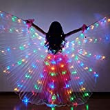 Kid's Colorful LED Light Dance Wing Dance Belly Costume Performance Glow in The Dark Butterfly Cloak