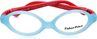 Fisher-Price FPV18 Two-Tone Oval Medical Glasses for Kids - Light Blue and Red