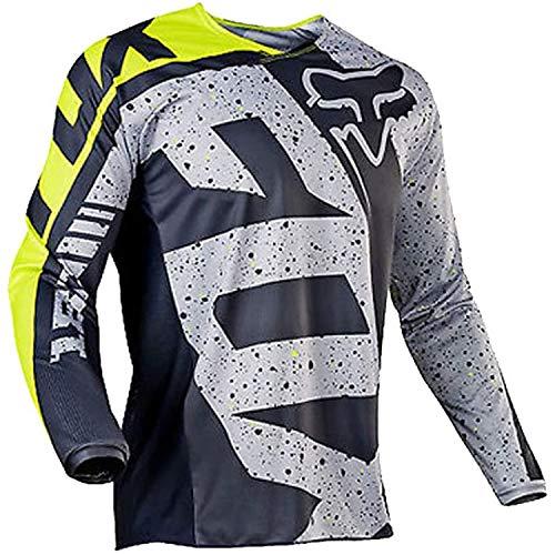 Maillot Cyclisme Homme Manches Longues Vélo Jersey VTT Vêtements Manche Courte Séchage Respirant Cyclisme Tee Shirt (Black,M)
