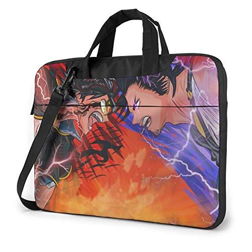 IUBBKI 13 inch Laptop Bag Black Clover Laptop Bag Laptop Briefcase Shoulder Messenger Bag Case Sleeve