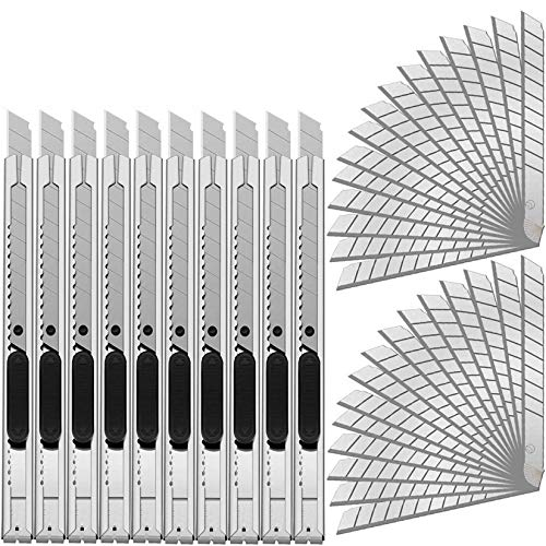 カッター ナイフ 細工カッター 10点セット アートナイフプロ(直線刃) デザインナイフ 替刃 軽作業用カッター デザインカッター 替え刃 40点セット 消しゴム はんこ 切り絵 紙や資料を切り