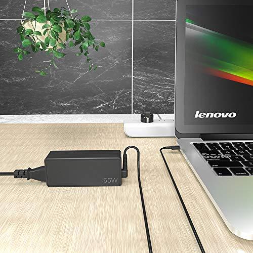 QYD 65W USB C Netzteil Type C PD Ladegerät für Lenovo 4X20M26268 Yoga 910-13 720-13IKB 370 ThinkPad X1 Tablet Yoga ThinkPad E580 L380 L480 L580 X270 P51s T470s T570 Laptop ladekabel Power Cord