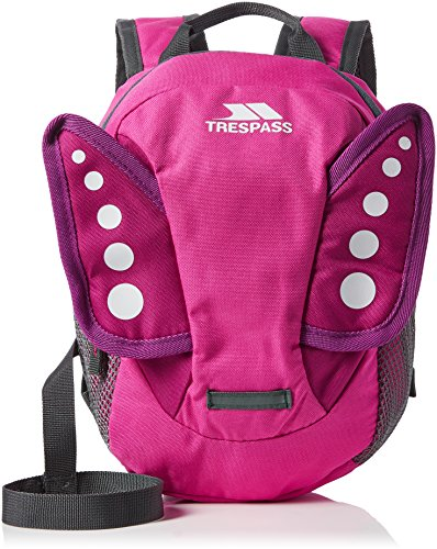 Trespass Tiddler, Pink, Backpack with Safety Rein 3L, Pink