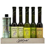 Infused/Cold-Pressed Grapeseed Oil Pantry Set for Cooking and Salads, 6 Flavors