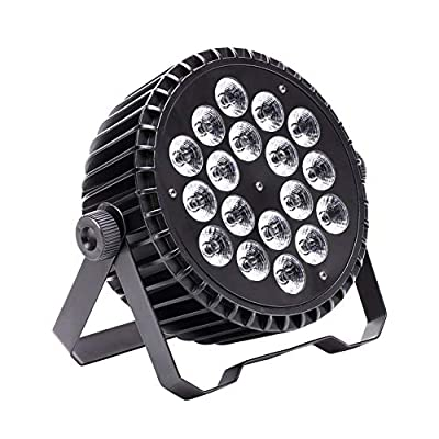 180W Par Stage Lights, U`King High Power RGBW 18 LED Uplights by Remote DMX and Sound Activated Uplighting for DJ Disco Club Wedding Party Church Stage Lighting