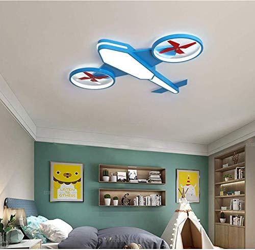 De dibujos animados vivero de aviones Lámparas de techo, caseros creativos LED niños y niñas habitación del cuarto de niños de iluminación, regulación sin escalones,50 * 58cm