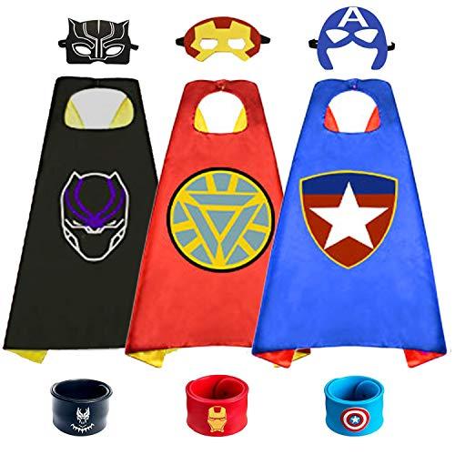 HUIHAI Capa de Superhéroe para Niños,Disfraces Infantiles para Cosplay de Fiesta de...
