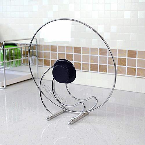 Yingm Soporte para Tapa de Olla Sentado Acero Inoxidable 304 Tabla de Cortar Rack de Doble Uso en Rack Cocina for Guardar Objetos de Ollas Y Sartenes para Utensilios de Cocina