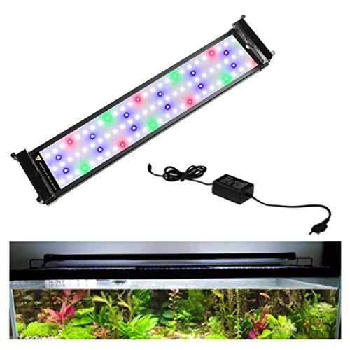 Hengda 7.5W Aquarium LED Beleuchtung RGB und Blaulicht Aufsetzleuchte Wasserdicht Lampe Lighting 30-50 cm mit Verstellbarer Halterung für Fisch Tank Korallenwasserpflanzen