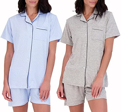 2 Pack: Women's Pajama Set Ultra-Soft Short...