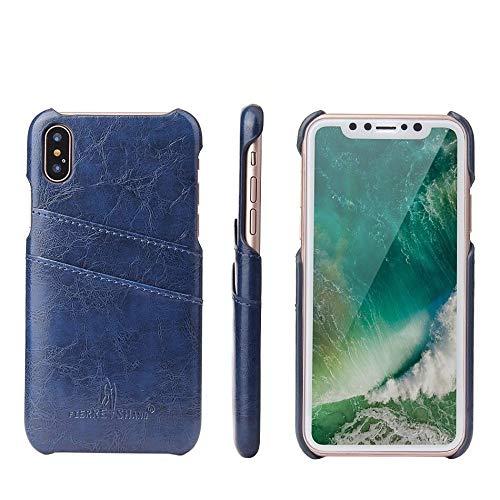 HHF Accesorios para iPhone 12/12 Pro / 12 Pro MAX 12 Mini, Cera de Aceite de Cera de Cuero de Espalda de Lujo Original de la Marca del Casco de Alta Gama para iPhone 12 11pro MAX