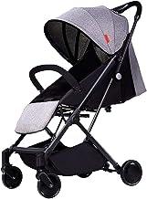 Sillas de paseo Cochecito De Bebé Ligero Plegable Trolley Incorporado Amortiguador De Respaldo Puede Ajustarse con Libertad Paraguas De Bebé Coche Niño Coche 3 Colores (Color : Gray)