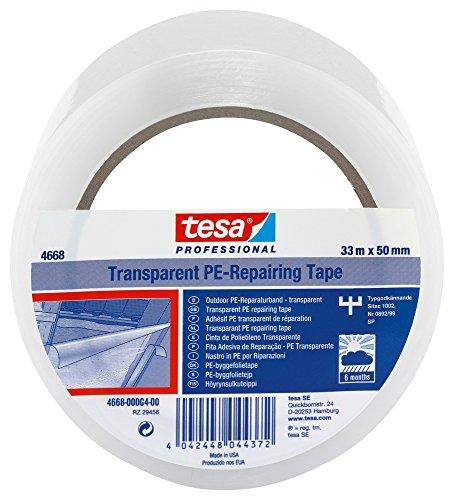 tesa 04668-00004-00 Folienband 4668 MDPE, 50 mm x 33 m, transparent, Nicht zutreffend