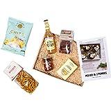 Foodist Präsentkorb mediterrane Box, vegetarisch, gefüllt mit 7 Manufaktur Lebensmittel wie Pasta,...