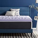 LUCID 3 Inch 5 Zone Lavender Memory Foam Mattress Topper – Plush- Calming Lavender – Targeted Convoluted Comfort Zones