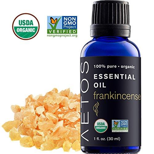 Aetos Organic Frankincense Oil, 100% Pure, Natural, Therapeutic Grade Essential Oil