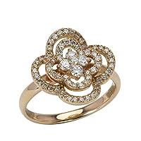 真珠の杜 ダイヤモンド リング K18 ピンクゴールド 18金 0.50ct フラワーモチーフ 花 可愛い ダイヤ お呼ばれ 13.5号
