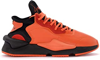 Y-3 Man's Sneaker Kaiwa in Tessuto Tecnico E Pelle Arancione E Nero