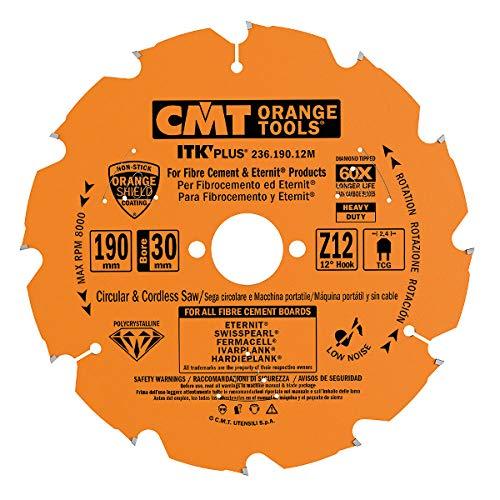CMT Orange Tools CMT 236.125.07 - Hoja circular de diamante para Fibrocemento D=125x2.0/1.4x22.23 Z7 TCG