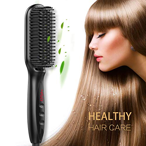 in budget affordable Hair straightening brushes in several settings, ion straightening RVB BEAUTY, rapid heating, …