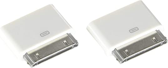 ClipGrip 30 Pin Adapter | 8 Pin Female to 30 Pin Male | Works with Smartphones, Cars, 30 Pin Docking Stations and More | (2-Pack) White