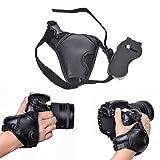 Itian Cinturino da polso PU Pelle Stabilizzando Cinghia da polso Hand Grip Strap per Nikon / Canon / Sony / Pentax / Minolta / Panasonic / Olympus / Kodak / SLR / DSLR telecamere digitali