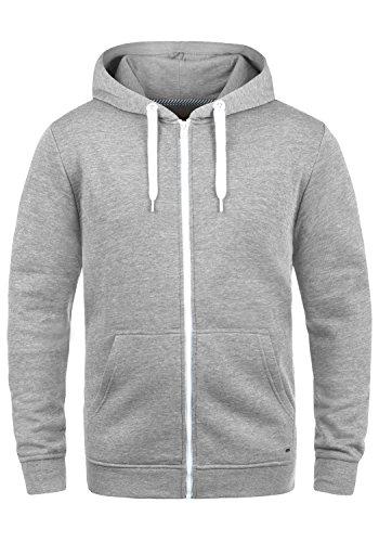 !Solid Olli Ziphood Herren Sweatjacke Kapuzenjacke Hoodie Mit Kapuze Reißverschluss Und Fleece-Innenseite, Größe:XL, Farbe:Light Grey Melange (8242)