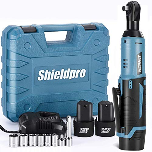 Shieldpro Cordless Electric Ratchet Wrench Kit,40Ft-lb 3/8