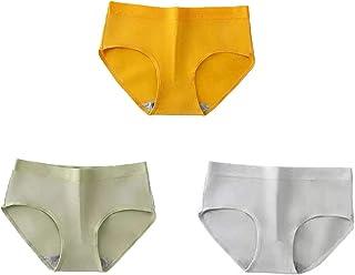 ملابس داخلية مطاطية وجيدة التهوية من القطن الخالص للنساء، 3 قطع