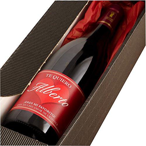 Calledelregalo Regalo Personalizable: Botella de Vino Personalizada Te Quiero con el Nombre y la dedicatoria Que Quieras: Amazon.es: Hogar
