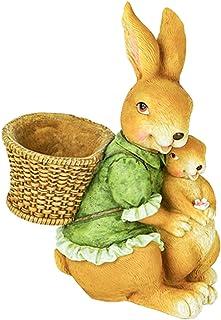 CUTICATE ミニチュアバニー妖精の庭のウサギの置物イースターバニー像マイクロ風景装飾植物の花の装飾品 - グリーン