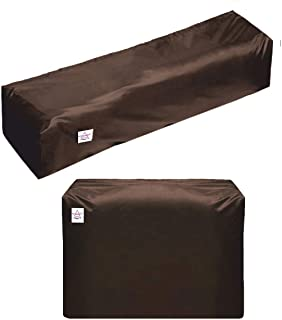 HOME STAR Brown Outdoor and Indoor Unit AC Covers for Split AC