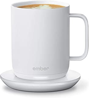 NEW Ember Temperature Control Smart Mug 2, 10 oz, White, 1.5-hr Battery Life - App Controlled Heated Coffee Mug - Improved...