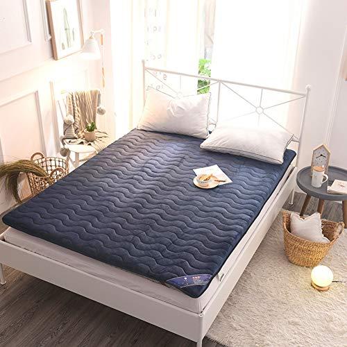 MM-CDZ fluwelen slaapmatras, antislip, tatami-bodem, gewatteerd, traditioneel, Japans, futon, dikke vouwmatras, voor bed, matras voor thuis en slaapkamer