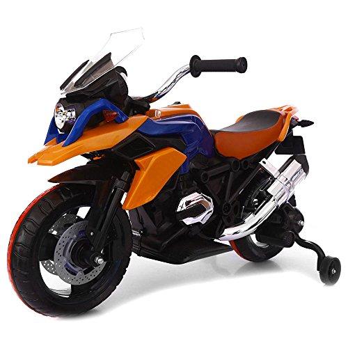 kid go Moto Elettrica per Bambini 12V Moto Flower Arancio
