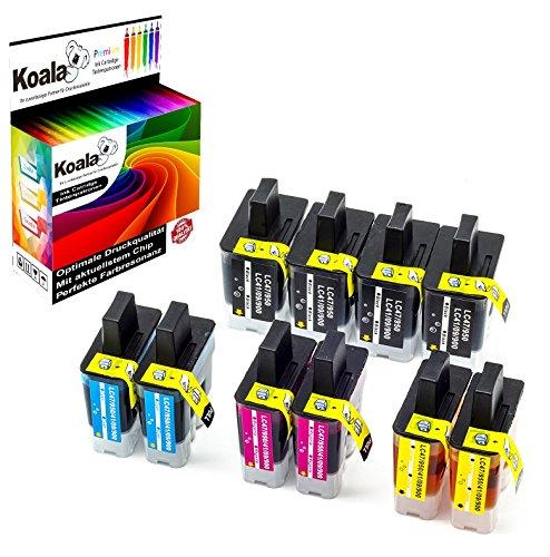 Koala 10 Druckerpatronen kompatibel für Brother LC-900 LC900 für Brother DCP-110C DCP-115C DCP-117C DCP- 120C DCP-310CN DCP-315C FAX-1840C FAX-5440CN FAX-5840CN MFC-610CN MFC-620CN MFC-640CW