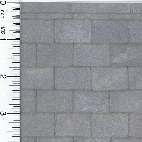 orden ahora disfrutar de gran descuento Dollhouse Wallpaper Old gris Slate Roofing Paper by Jackson Miniatures Miniatures Miniatures  punto de venta barato