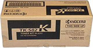 Best Kyocera 1T02KT0US0 Model TK-582K Black Toner Kit, Compatible with ECOSYS P6021cdn and FS-C5150DN Laser Printers, Up To 3500 Pages Yield, Includes Waster Toner Container Review