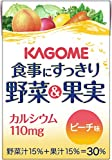 カゴメ 食事にすっきり 野菜&果実カルシウム ピーチ味 100ml×36本