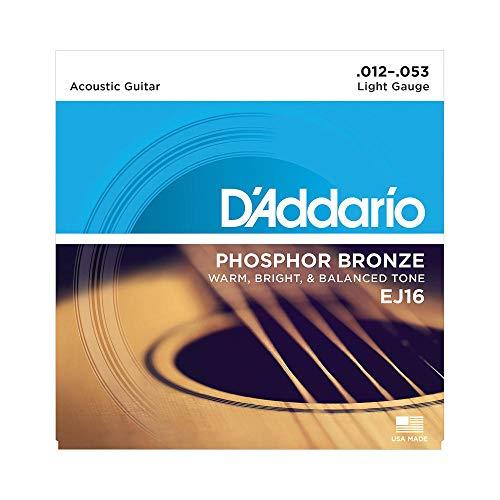 D\'Addario EJ16 - Juego de Cuerdas para Guitarra Acústica de Fósforo/Bronce, 012\' - 053, Naranja