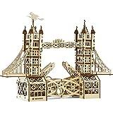 Wise Elk Mechanical Wooden Model Kit - Tower Bridge - STEM Building Set For Ages 14 & Up
