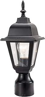 Design House 507509 Maple Street Outdoor Post Top Light, Black