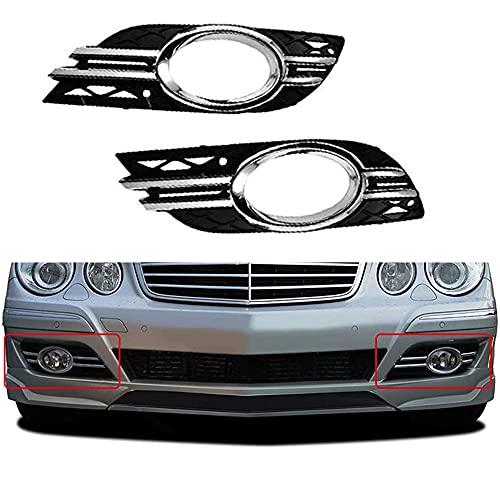 ZHYUEN Rejilla de automóviles, Frontal de Coche Fog Light Prill CUBIERTE Cubierta DE Cubiertas DE Recorte para Mercedes-E-Clase W211 07-09