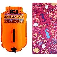 Nonbak Boya de natación estanca Talla S 20Litros Nadador Aguas Abiertas triatleta ¡Toalla Regalo!