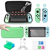 FASTSNAIL- Tasche für Nintendo Switch Zubehör Paket für Switch 12 in 1 Essential Games Kit für Switch mit Joy Con Covers, Daumenkappen und Tragetasche