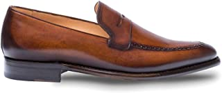 Adler - Mens Dress Penny Loafers - Italian Slip-On Penny Loafers with Leather Sole - Handcrafted in Spain - Medium Width