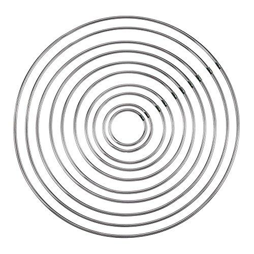 LiféUP 10 Pezzi Acchiappasogni Anelli di Metallo Cerchio per Dream Catcher ,Anelli in Metallo con Saldatura in Metallo, Cerchi per acchiappasogni Fai da Te, Misure Diverse, 10 Pezzi