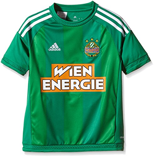 adidas Kinder Teamtrikot SK Rapid Wien Home 15/16 Trikot, Bold Green/White, 140